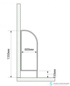 Писсуарные Перегородки 25мм из ЛДСП